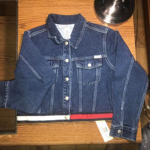 Tommy Hilfiger denim jacket girls Large NWT